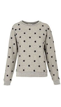 Whistles Star Embroidered Sweatshirt