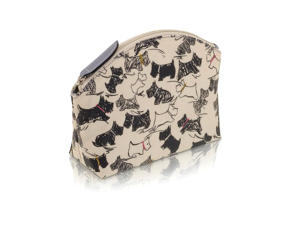 Doodle Dog small cream cosmetic bag