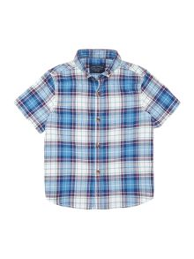 Boys check short sleeved shirt