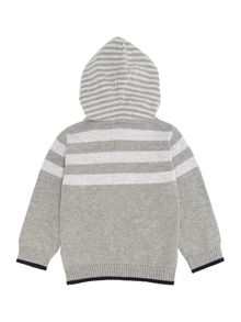 Baby boys knitted hooded jumper