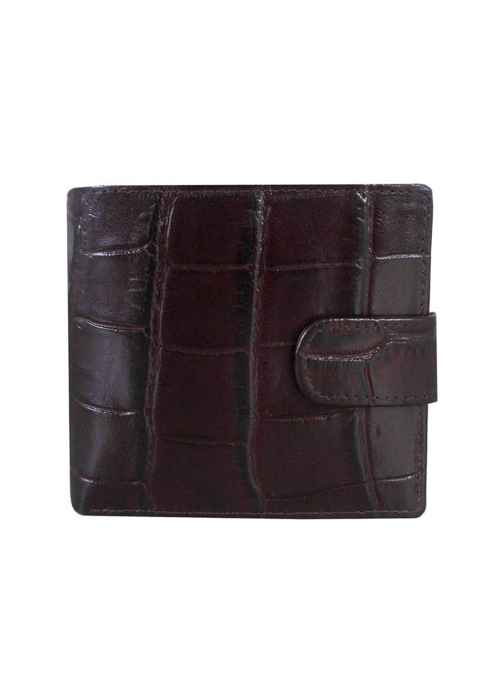 Crocodile print billfold wallet
