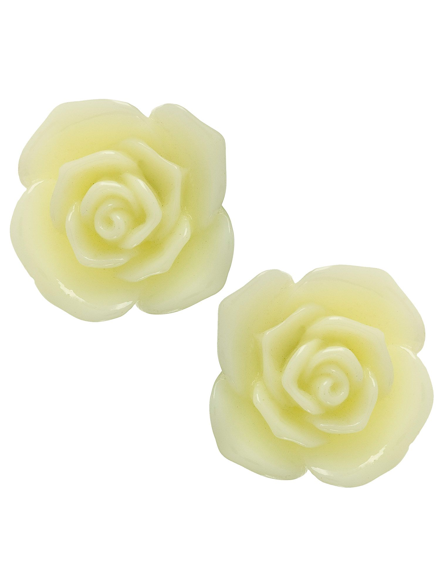 Resin flower stud