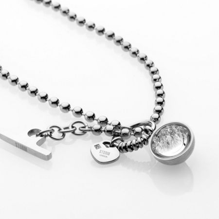 Storm Crysta ball necklace