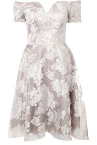 Bardot Organza Skater Dress