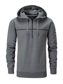 Henri Lloyd Brace hooded half zip sweat