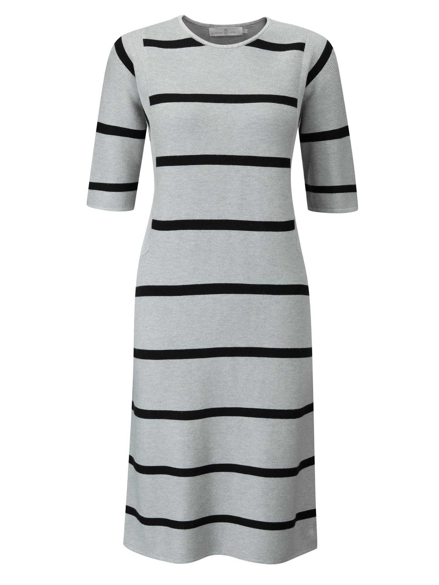 Henri Lloyd Liv Striped Knit Dress, Grey