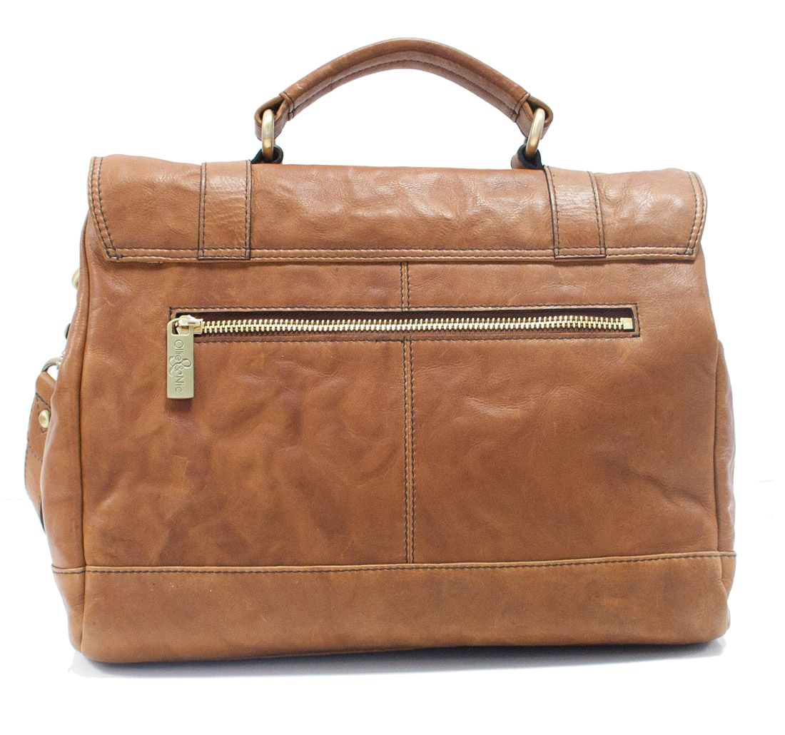 Donna Large Buckle Satchel