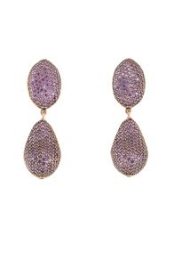 Coco Collection Purple Earrings