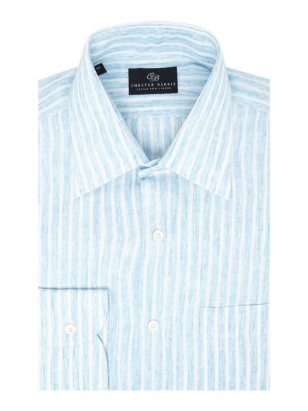 Chester Barrie L/S Soft Peter Tie Dye Linen Stripe S/C