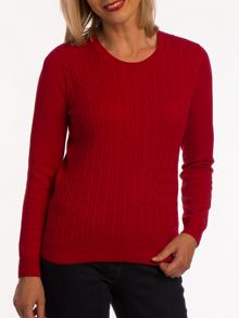 Tulchan Round neck cable jumper