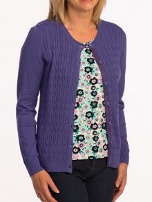 Tulchan Fine cable cardigan