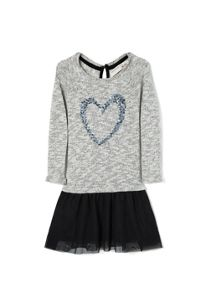 Girls sequin contrast-bodice dress
