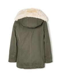 Girls detachable lining parka