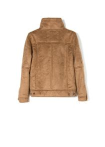 Boys faux shearling lining jacket
