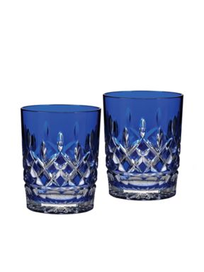 Waterford Lismore cobalt glassware range