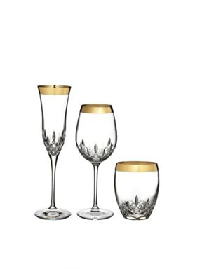 Waterford Lismore Essence Gold Crystal Glassware