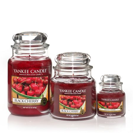 Yankee Candle Black cherry tea lights box of 12