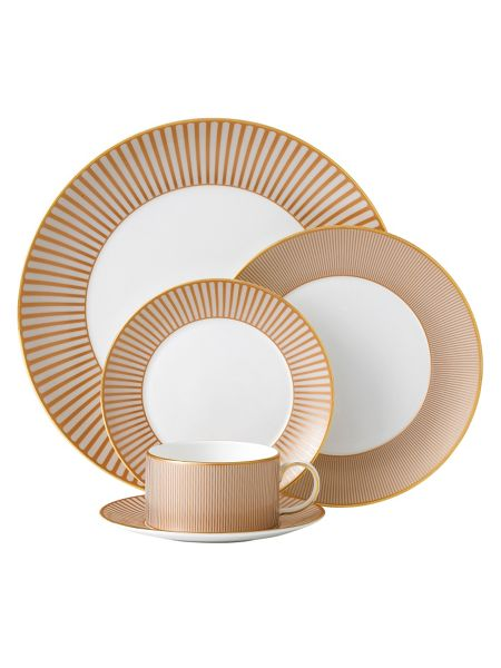 Palladian fine china orange accent plate 17cm