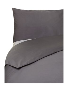 Linea 100% cotton percale bed linen in pewter