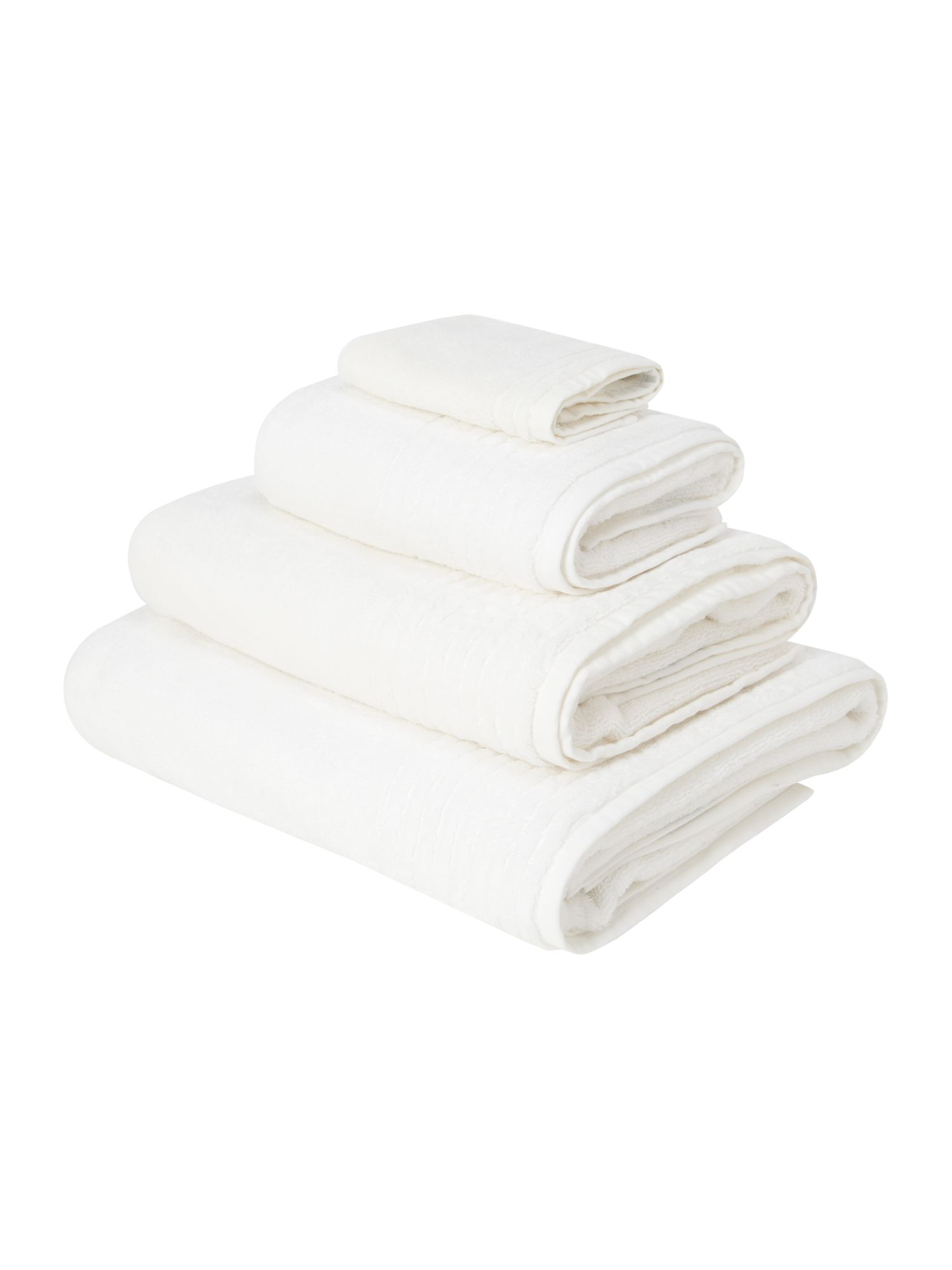 Spa pima cotton towel in Chalk