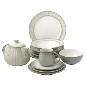 Denby Mist dinnerware in Duck Egg