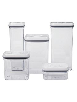 3.8l large square lid container