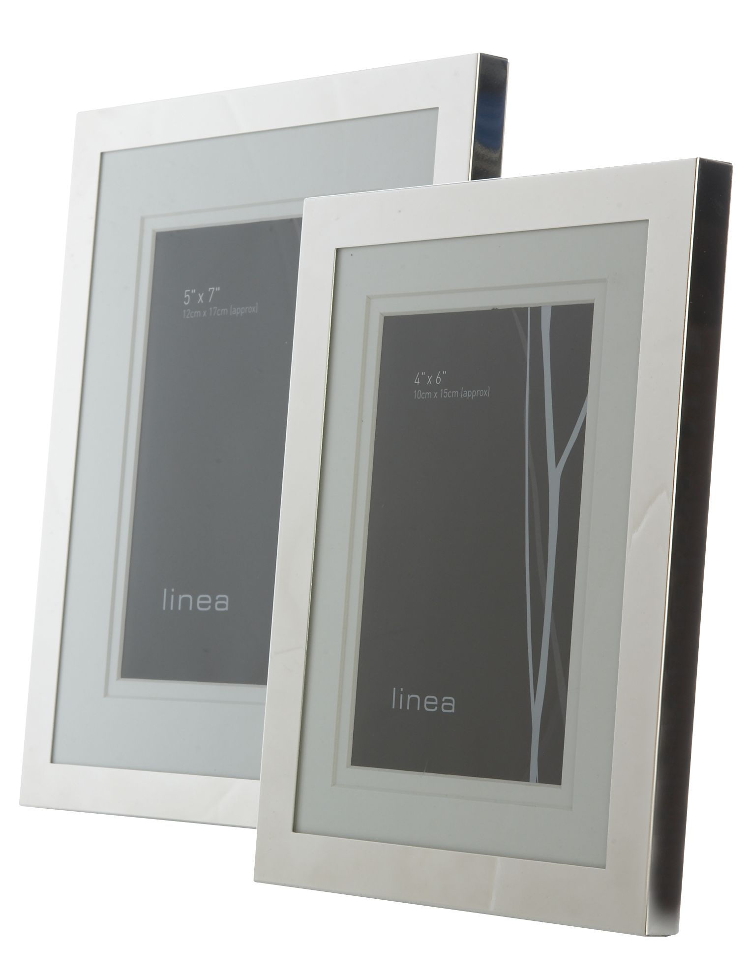 4 x 6 modern silver plated photo frame