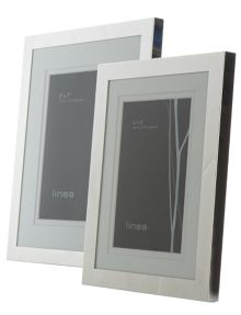 Linea Modern silver plated frames