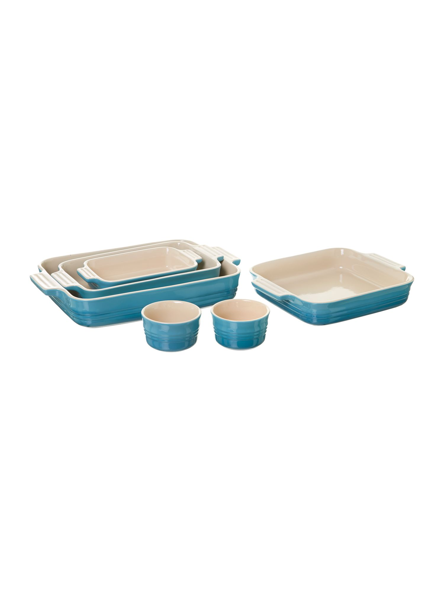 Ovenware range in Teal