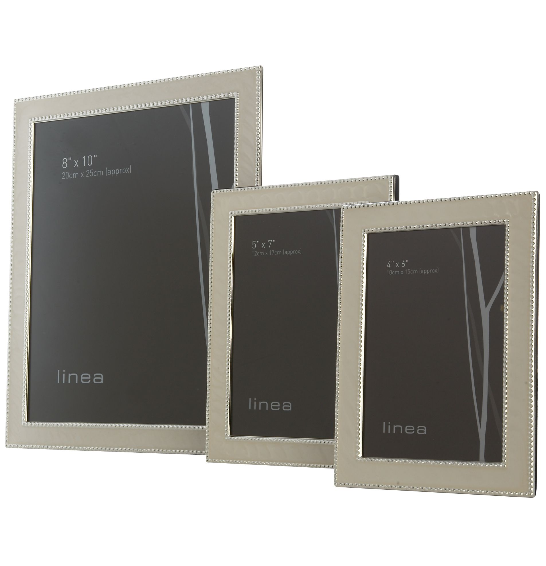Image of Linea 4 x 6 beaded enamel photo frame
