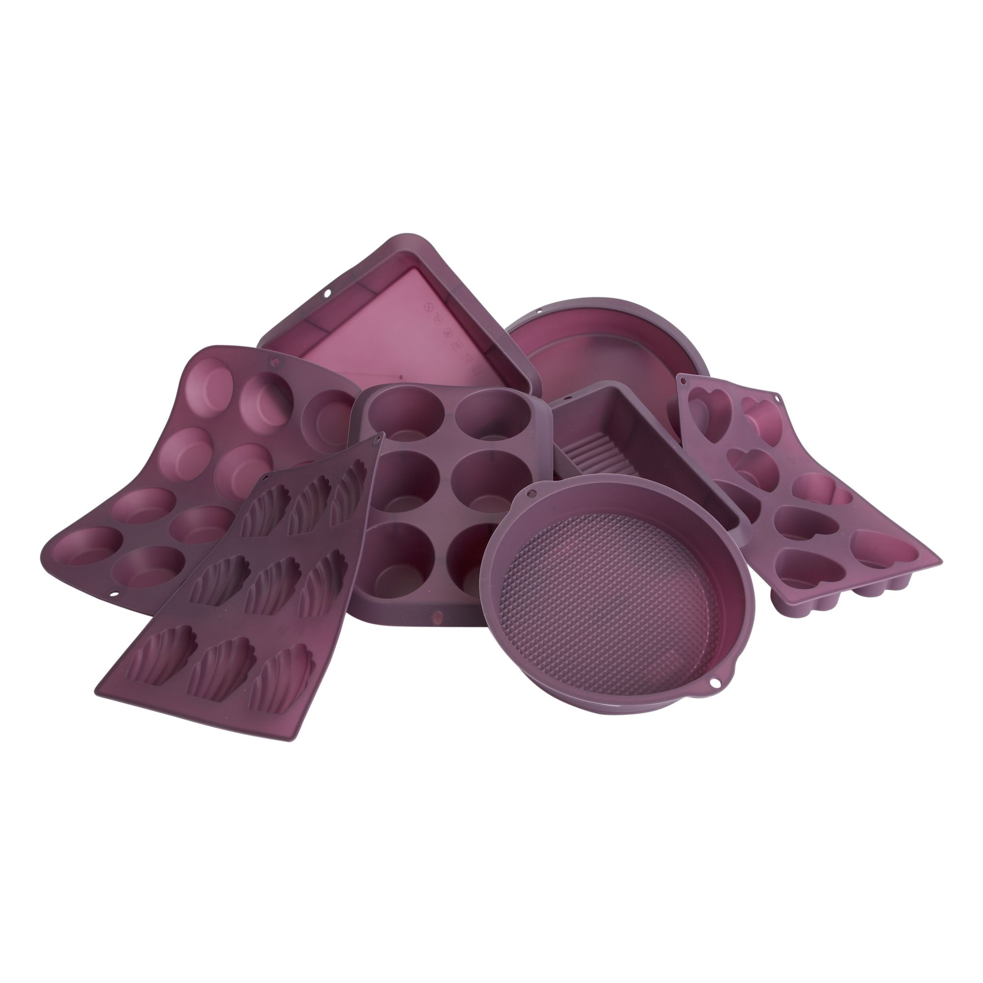 Linea Silicone 8 cup heart moulds