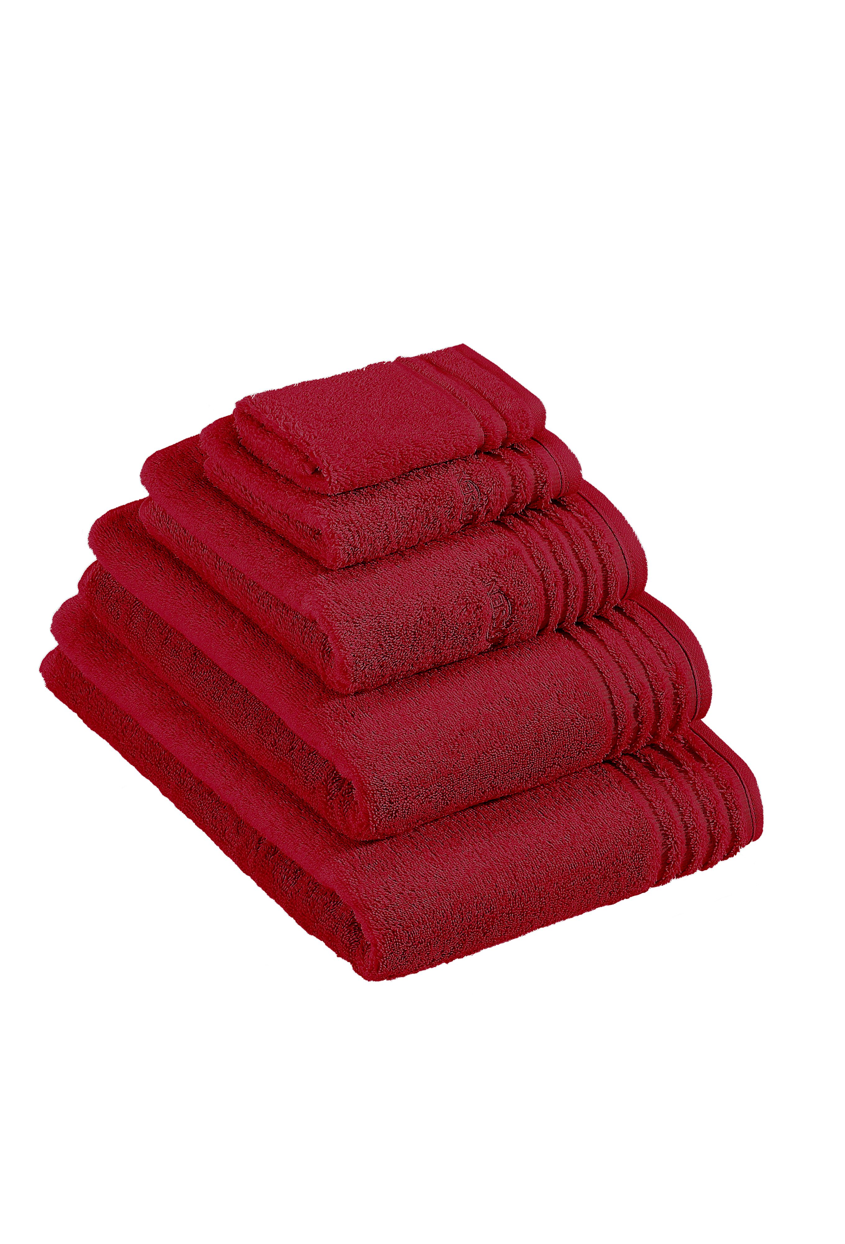 Vienna towel range in rubin