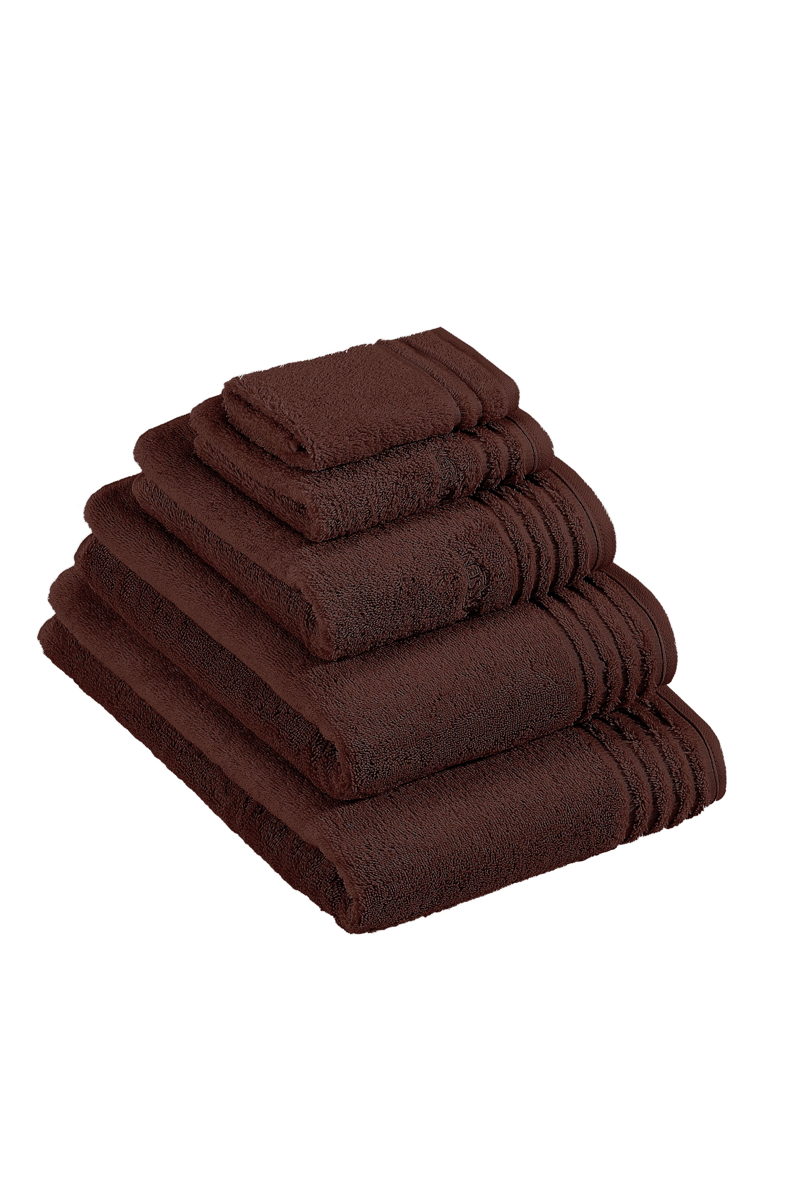 Vienna towel range in dark chocolate