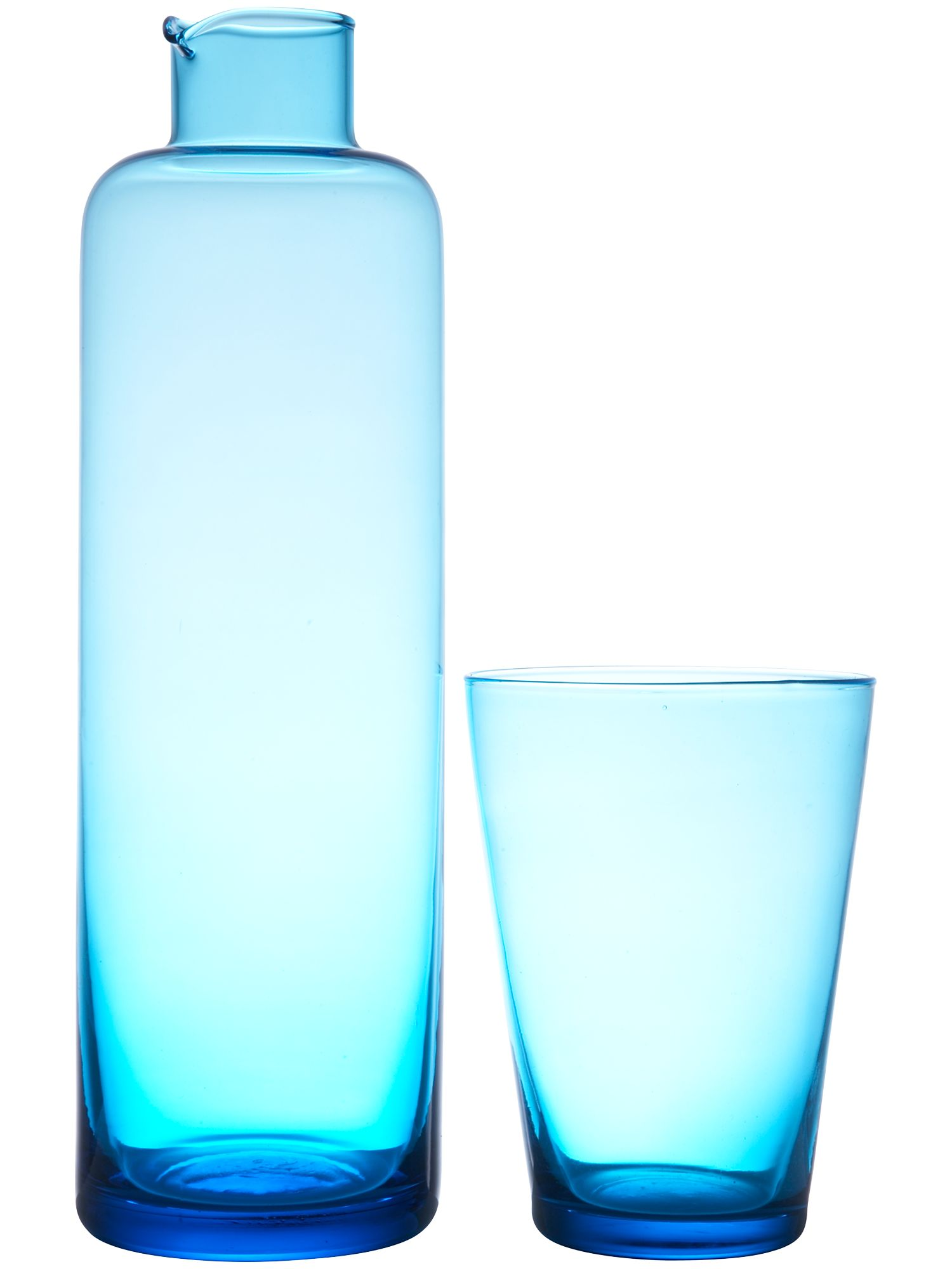Linea Sky glass jug