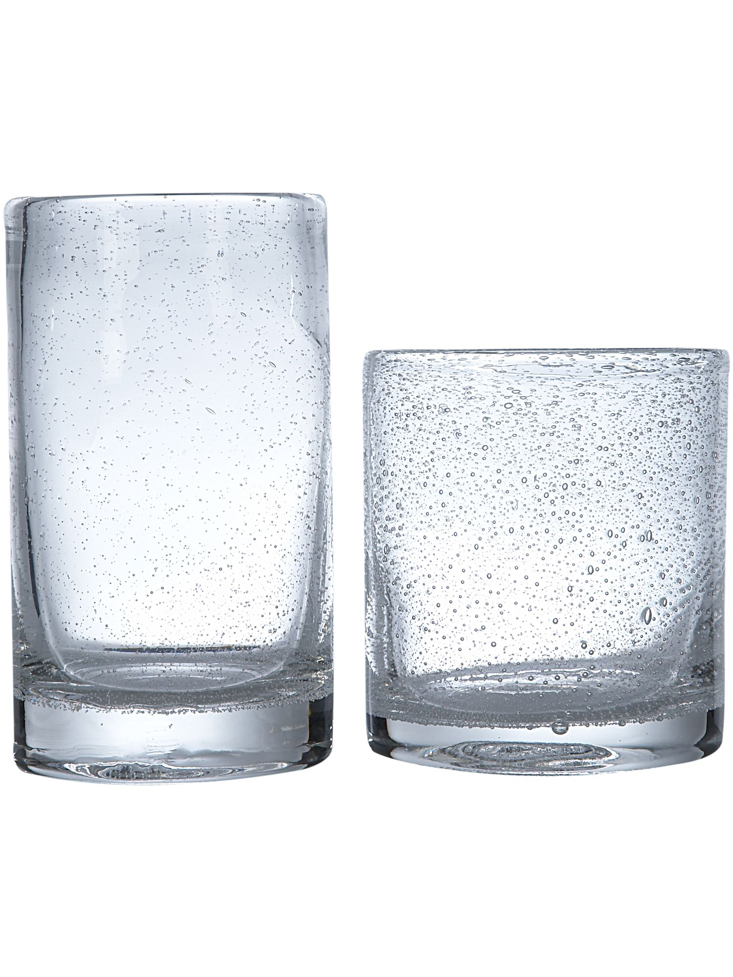 Linea Bubble glass tumbler