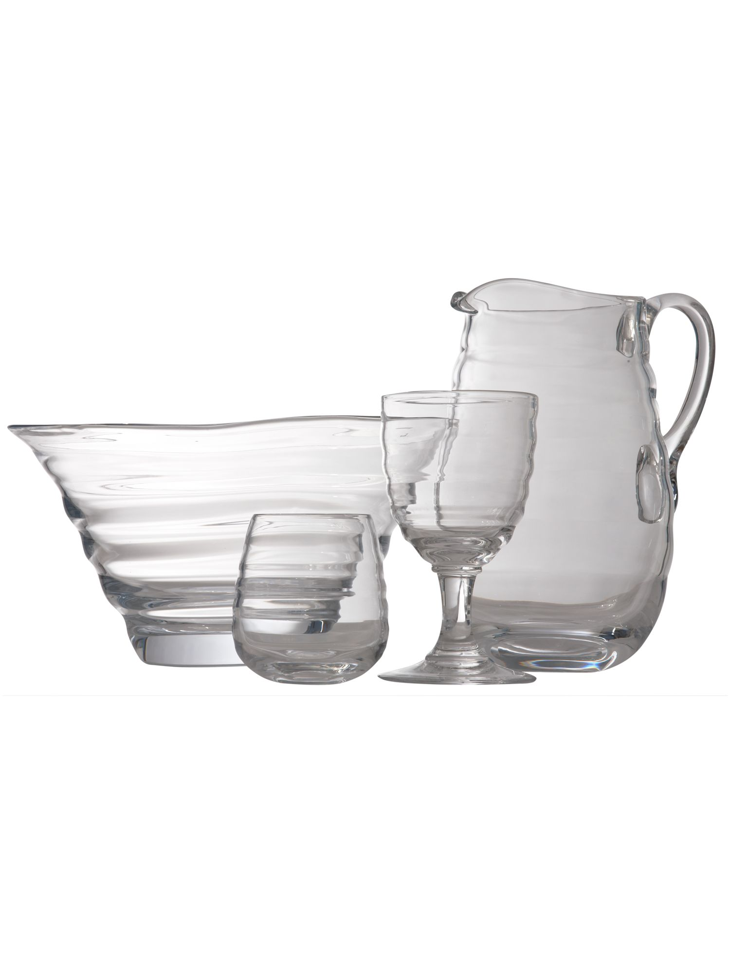 Portmeirion Large glass jug with handle