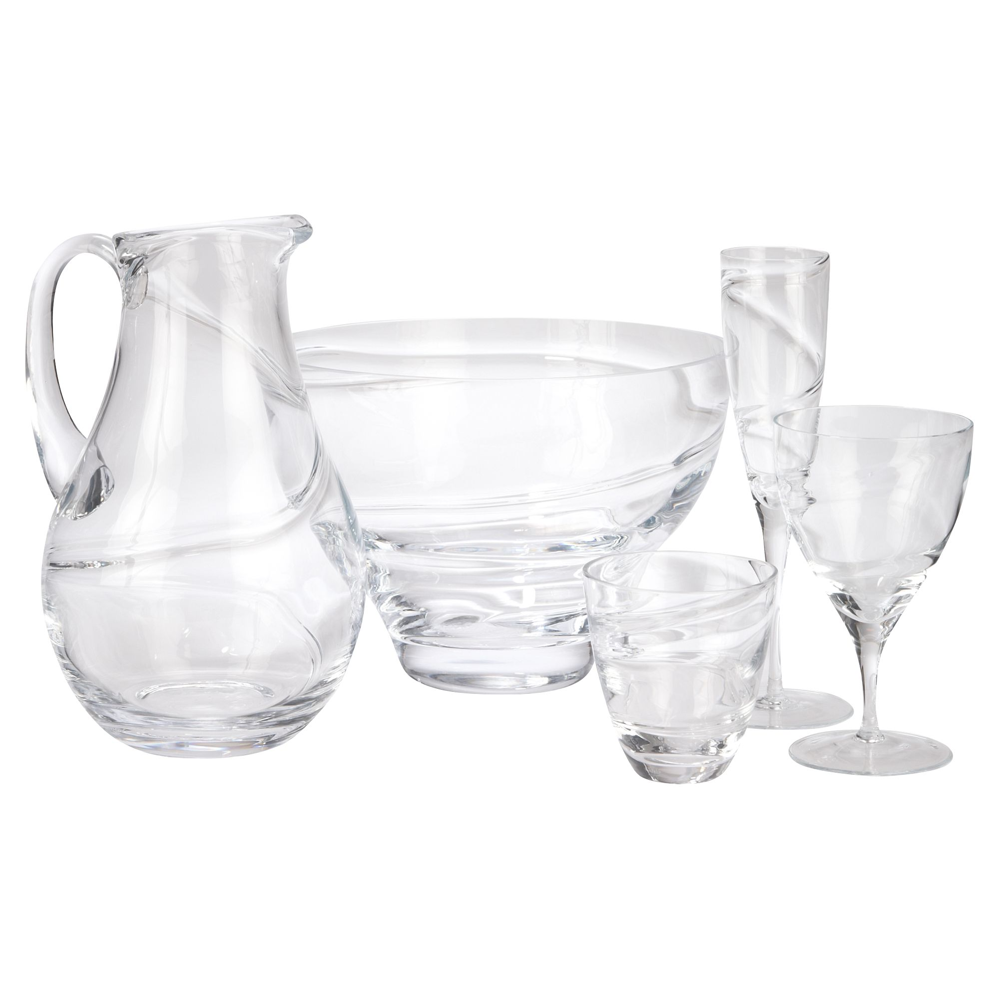 Malika glassware collection