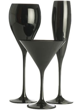 Linea Olga black glass range