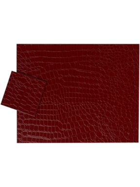 Linea Mock Croc tablemats in red