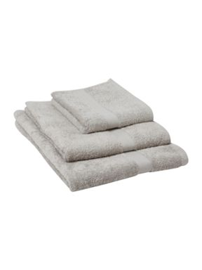 Linea Supima towels in cement