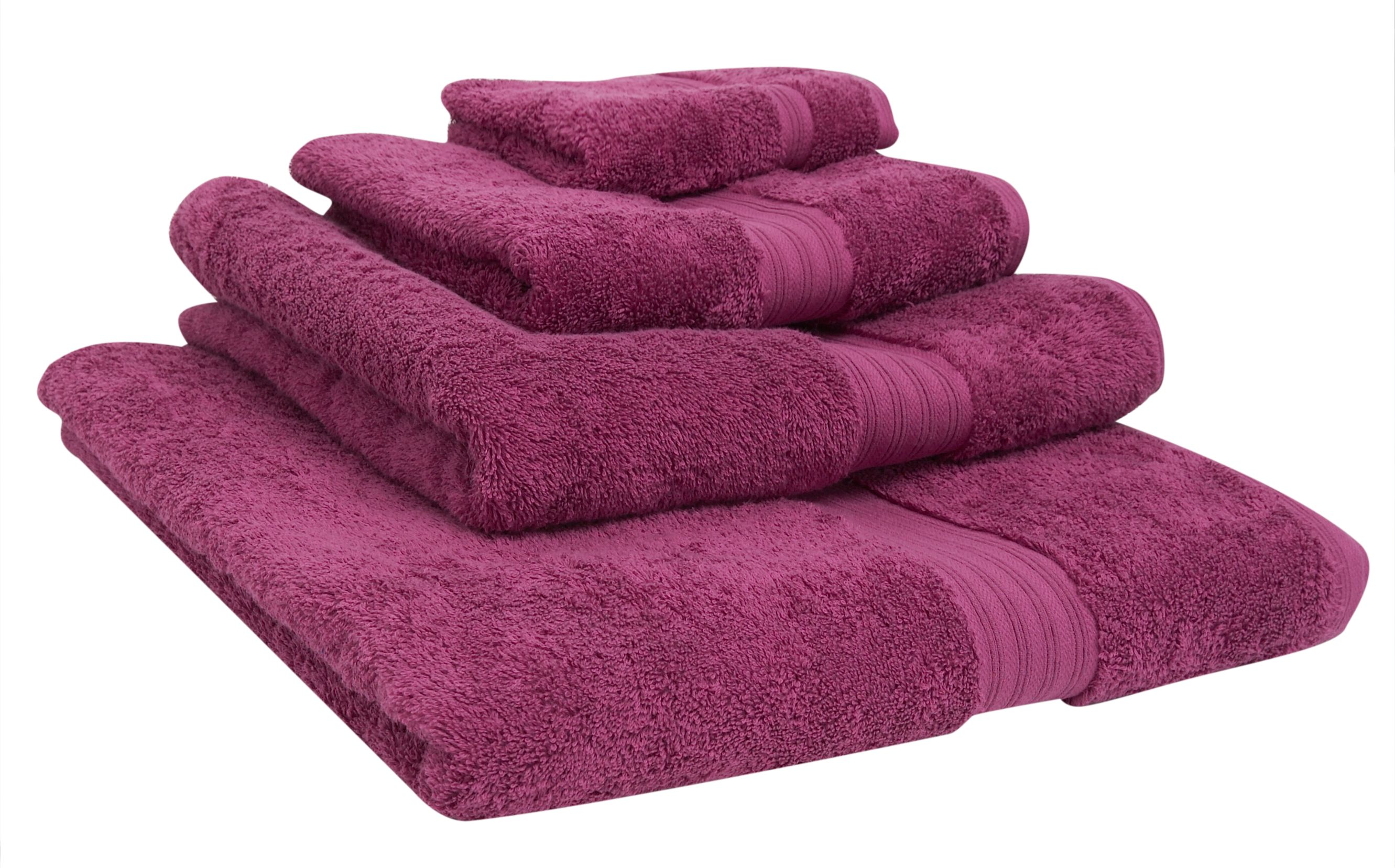 Luxe Egyptain cotton bath towel in ruby