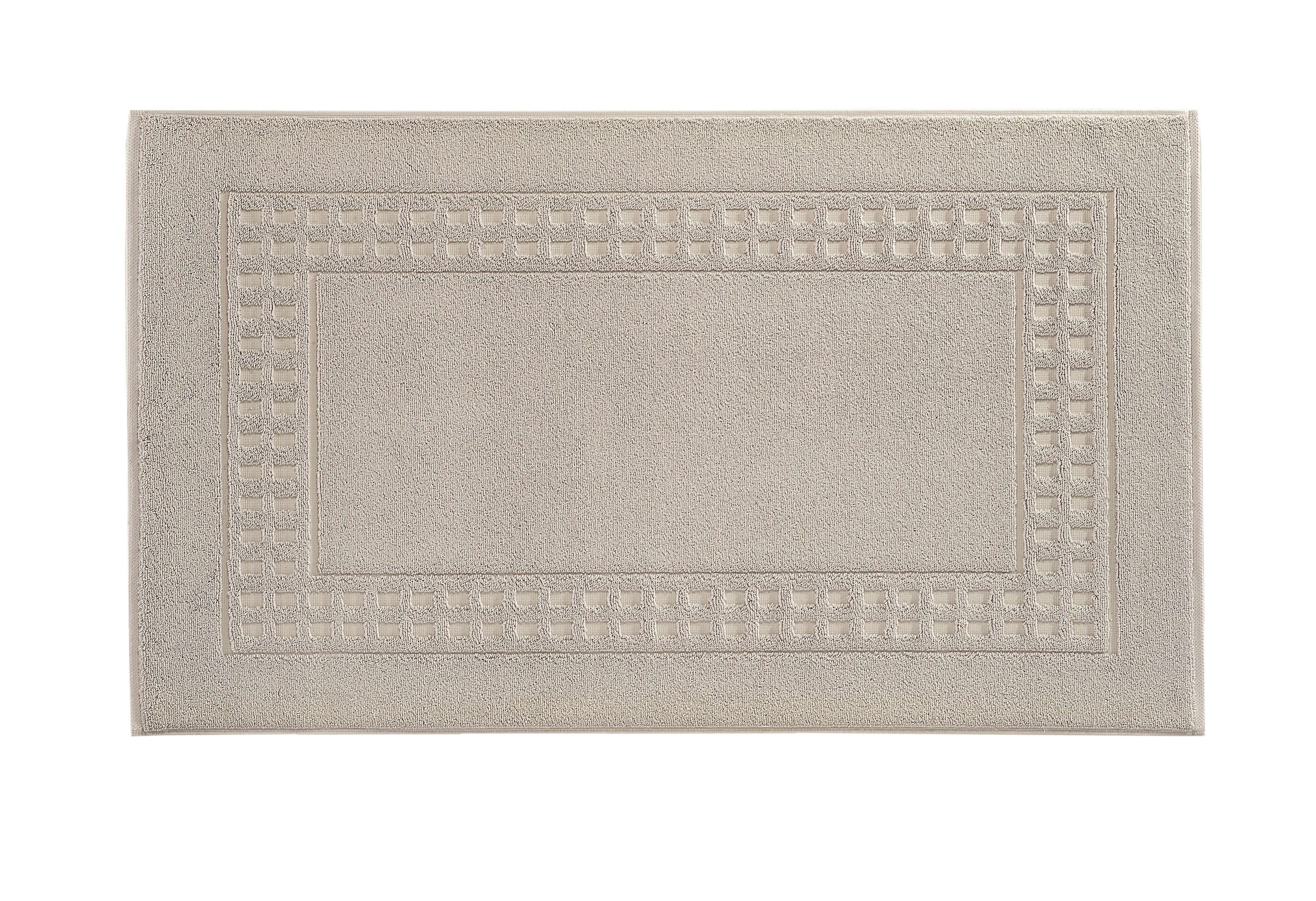 Country bath mat range in silver