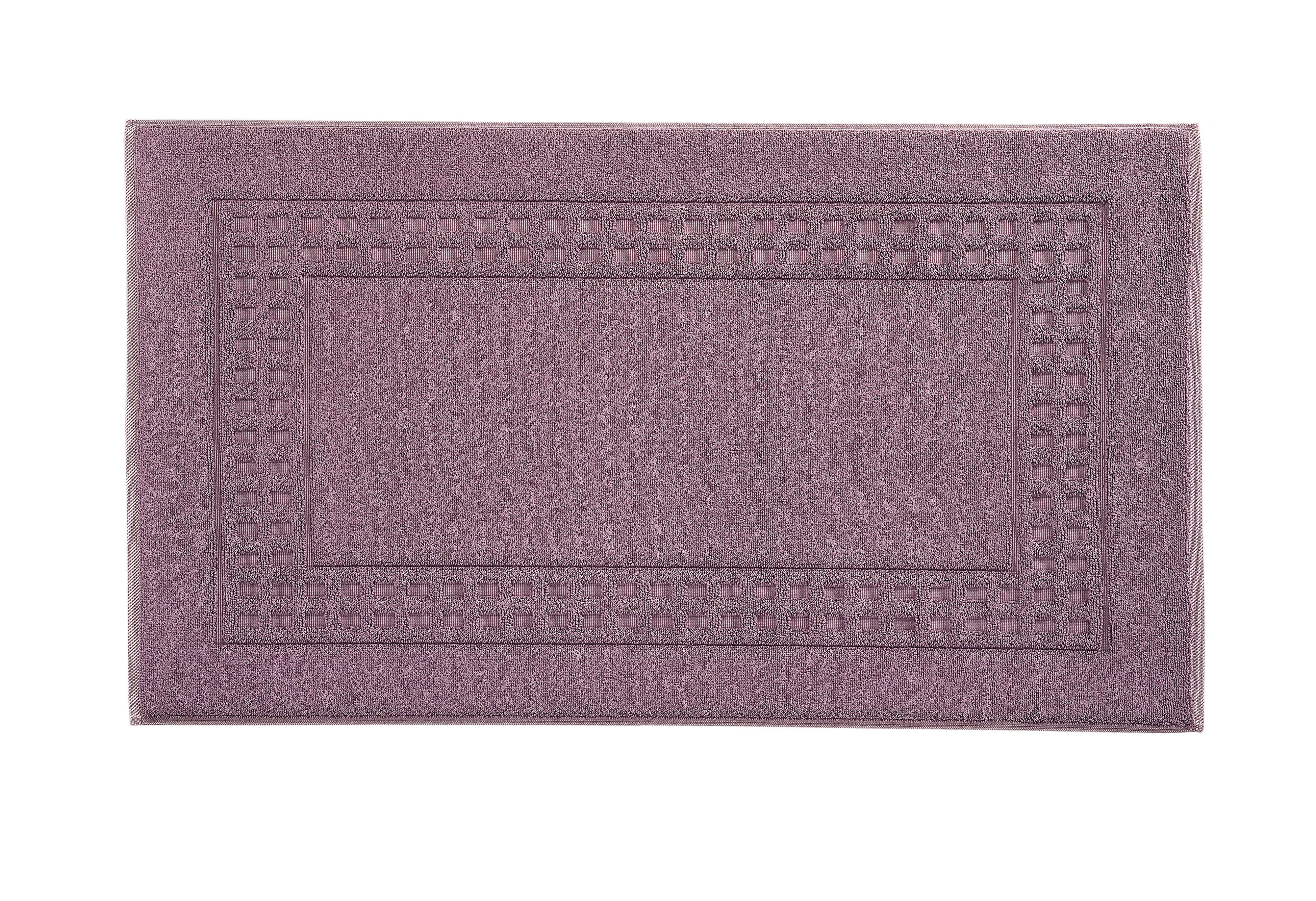 Country bath mat range in plum