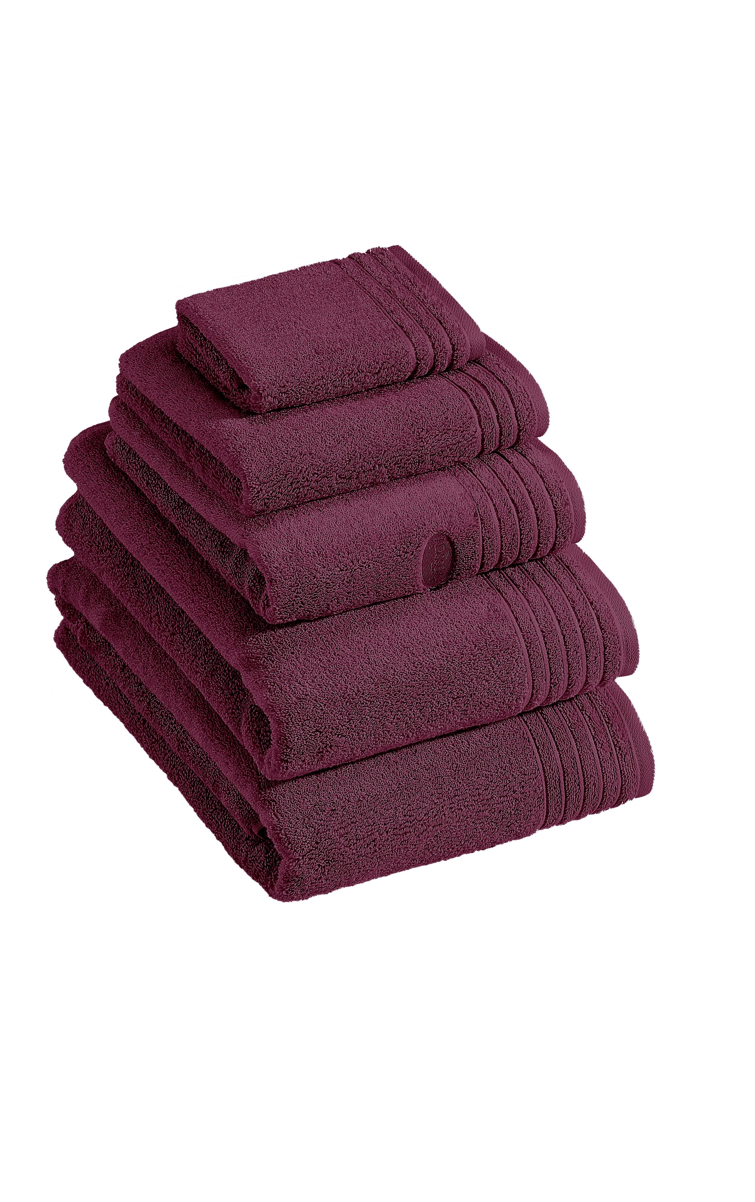 Dreams towel range in berry