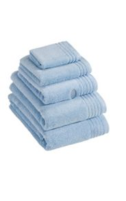 Dreams towel range in pale blue