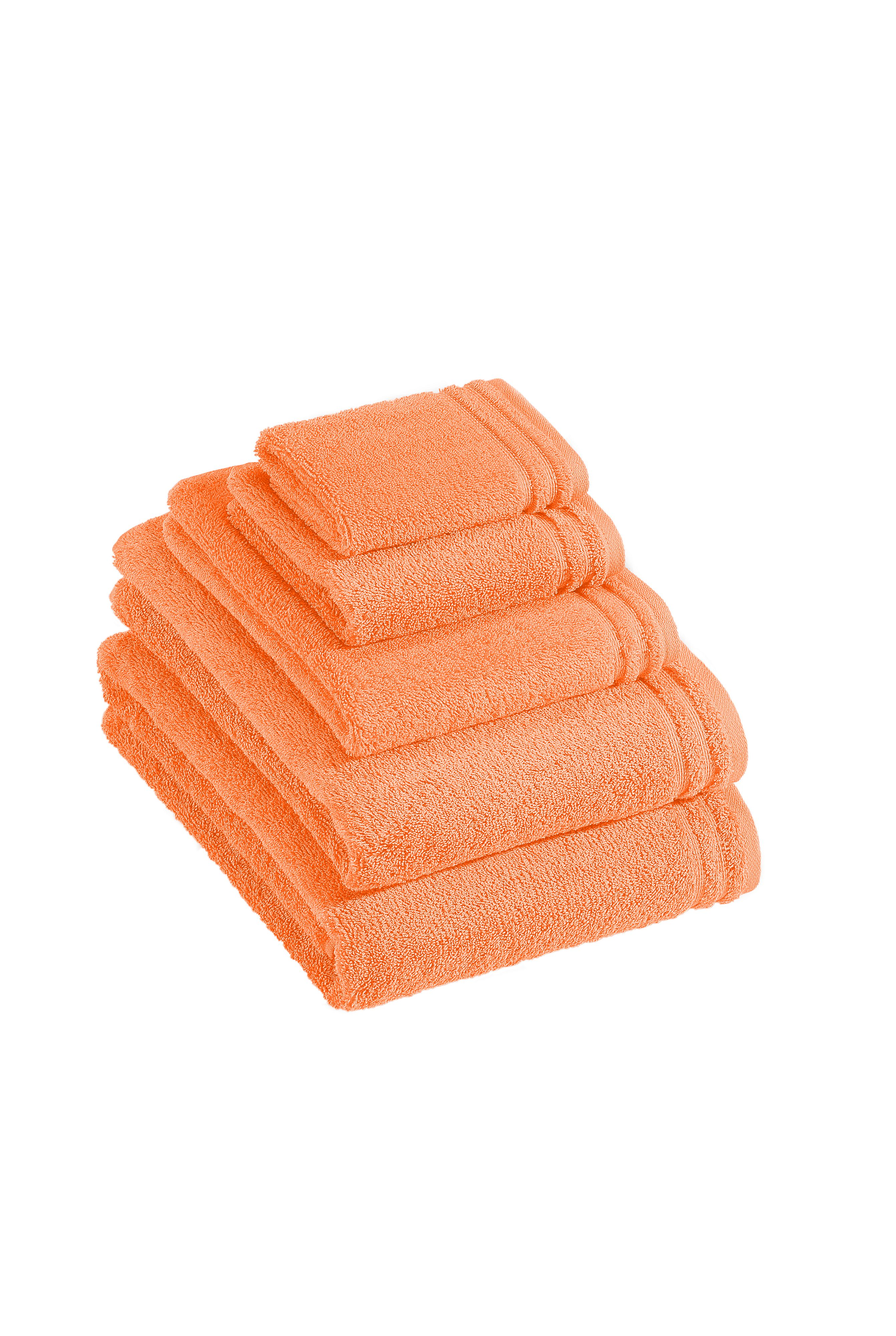 Calypso Feeling towel range in nectarine