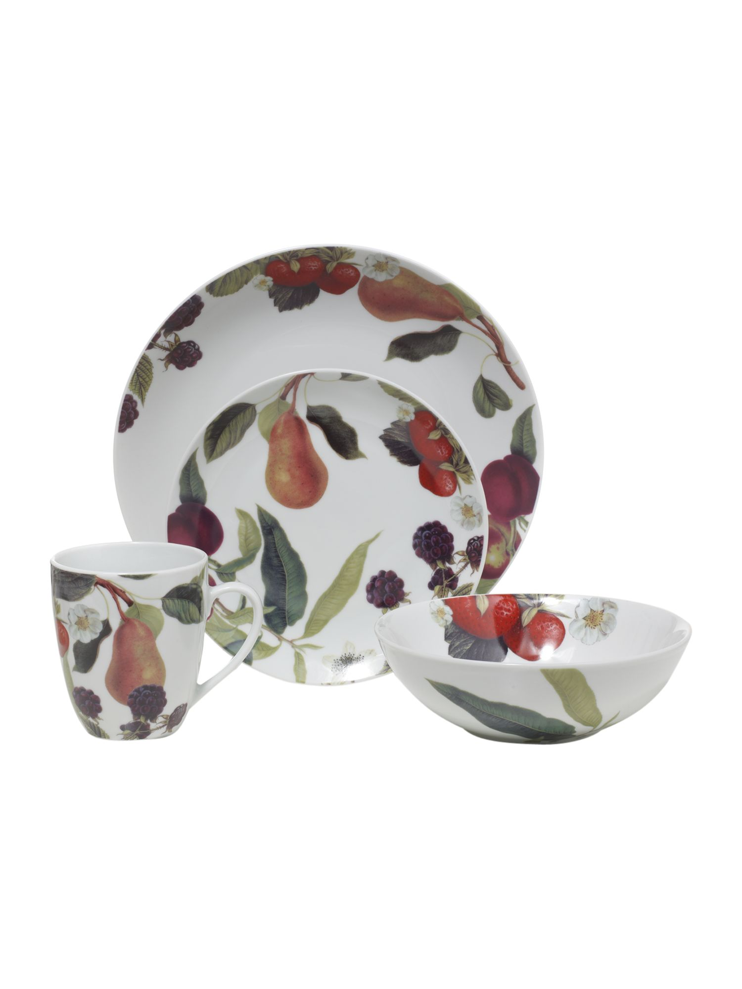 Botanical fruits dinnerware range