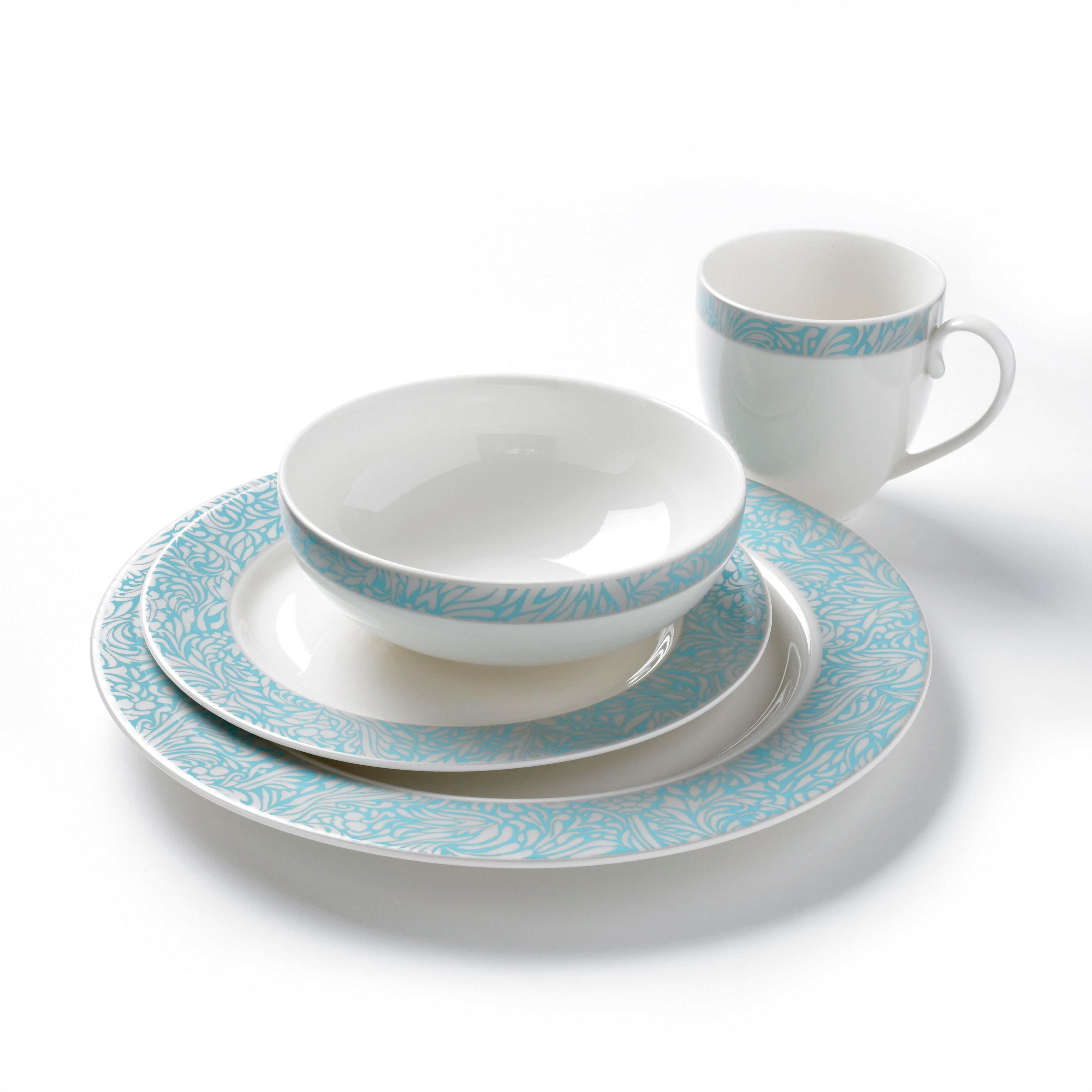 Monsoon Lucille dinnerware in teal