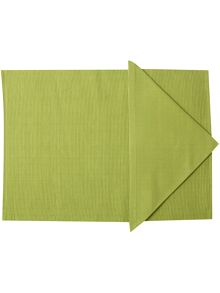 Collage tablelinen in lime