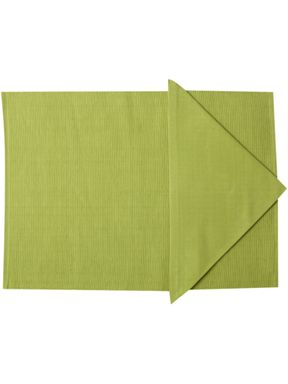 Linea Collage tablelinen in lime
